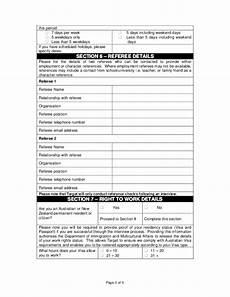 Resume Paper Target Free Printable Target Job Application Form Page 3