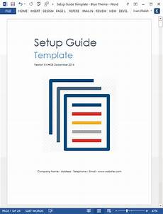 Ms Word User Manual Template Setup Guide Template Download 29 Pg Ms Word Template