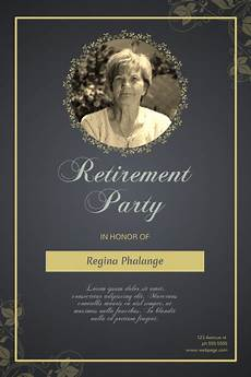 Retirement Party Flyers Retirement Party Flyer Template Postermywall