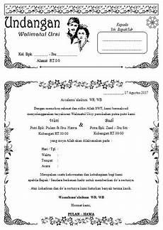 contoh undangan walimatul ursi desain kaligrafi file