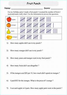 Food Tally Chart Tally Chart Worksheet Printable Tally Chart Worksheets