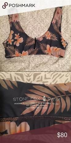 Stone Fox Swim Size Chart Stone Fox Swim Zoey Top Vintage Santa Cruz Print M