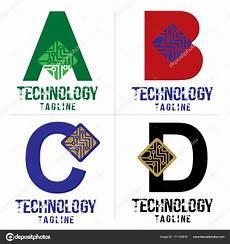 Abcd Logo Design Lettre Abcd Logo Technologie Conception Vecteur Image