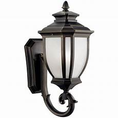 Kichler Outdoor Wall Light Kichler Outdoor Wall Light With White Glass In Rubbed