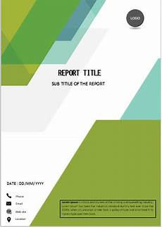 Editable Cover Page Simple Green Cover In 2020 Cover Page Template Word