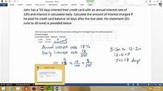 Credit Card Apr Calculator How To Calculate Credit Card Interest Youtube