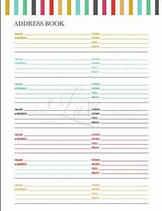 Phone Book Template Items Similar To Address And Phone Book Organizer