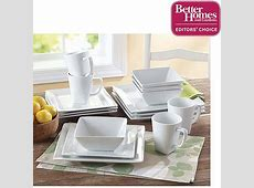 Better Homes and Gardens Square 16 Piece Porcelain