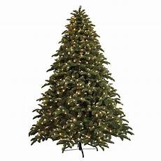 7 5 Foot Dual Light Christmas Tree Ge 7 5 Ft Just Cut Noble Fir Ez Light Artificial