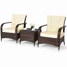 Brown Wicker Sofa 3d Image by 3pcs Outdoor Patio Mix Brown Rattan Wicker Furniture Set