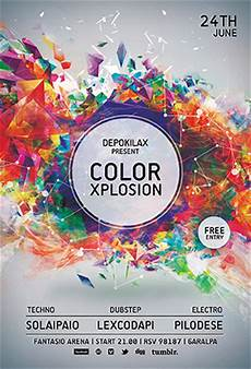 Flyer Color Xplosion Color Flyer Templates By Graphicplan On Deviantart