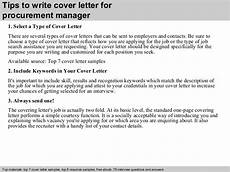 Purchasing Manager Cover Letter Procurement Manager Cover Letter