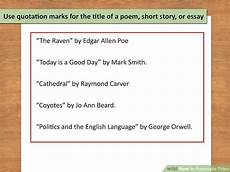 Punctuation Of Titles How To Use Punctuation Marks In Essays 5 Rules For