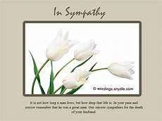Sympathy Card For Loss Sympathy Messages For Loss Of Husband Wordings And Messages