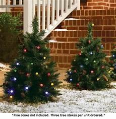 Battery Outside Christmas Tree Lights Set Of 3 Cordless Pre Lit Led 24 Inch Yard Christmas