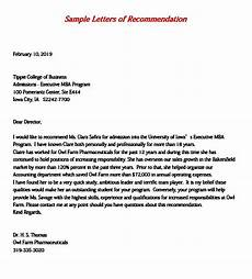 Letters Of Recommendation For Mba Mba Recommendation Letter Unique B