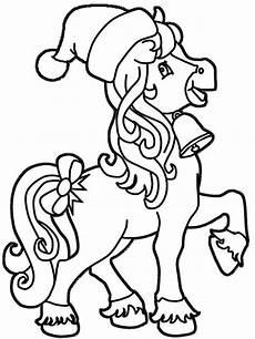 ausmalbild ein kleines pferd weihnachtsmalvorlagen