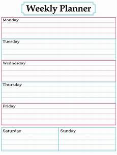 Printable Weekly Agenda Weekly Planner Page With Images Weekly Planner