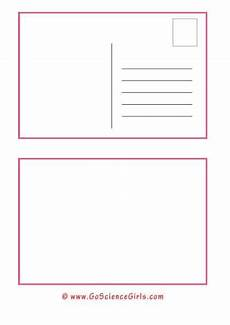 Postcard Template For Word Free Postcard Template For Kids For Christmas School