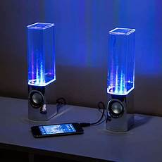 Speakers That Light Up And Shoot Water Light Show Fountain Speakers Speakers That Interact With