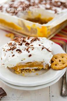 no bake pumpkin dessert for crust
