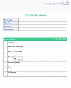 staff meeting agenda templates 8 best staff meeting practices 2 amazing free templates