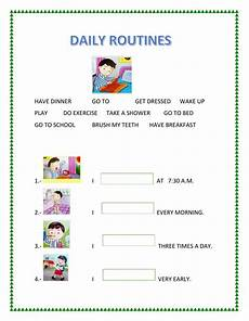 Daily Job Activities Daily Routines Interactive And Downloadable Worksheet