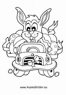 lustige osterhasen ausmalbilder ausmalbilder osterhase im auto osterhasen malvorlagen