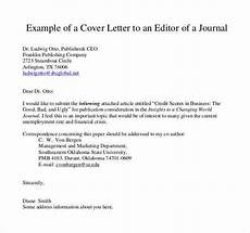 Cover Letter To Journal Editor 54 Simple Cover Letter Templates Pdf Doc Free