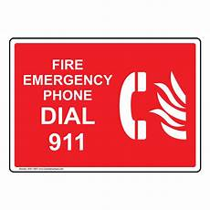 Emergency Contact Sign Fire Emergency Phone Dial 911 Sign Nhe 13837 Emergency