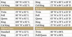 Bed Comforter Size Chart Bedding Size Chart Sewing Pinterest Charts The Long