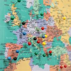 Printable Map With Pins World Traveller Push Pin Map By The Little Boys Room