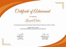 Certificate Format Template Free Certificate Of Achievement Template In Psd Ms Word