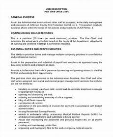 Clerical Duties Of A Medical Assistant 13 Office Clerk Job Descriptions Pdf Doc Free