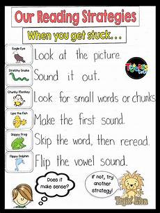 Struggling Readers Chart 35 Anchor Charts For Reading Elementary School