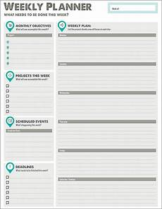 Weekly Monthly Planner Template Printable Planner Designs From Xerox