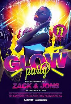 Flyer Partys Download The Uv Glow Party Flyer Template Awesomeflyer Com