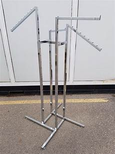 4 arm metal clothes rack adjustable