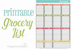 Help Me Make A Grocery List Printable Grocery List Finding Time To Fly