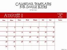 Calendar Slides Calendar Templates For Google Slides And Distance Learning