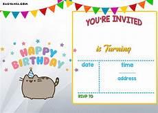 Birthday Invitations Free Templates Free Printable Pusheen Birthday Invitation Template Drevio