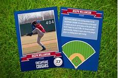 Baseball Card Templates Ace Baseball Card Template Card Templates On Creative