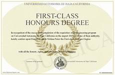 First Class Honors First Class Honours Degree