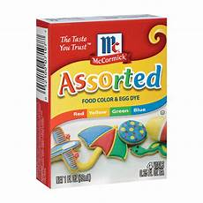 Mccormick Assorted Food Coloring Chart Mccormick Black Food Coloring