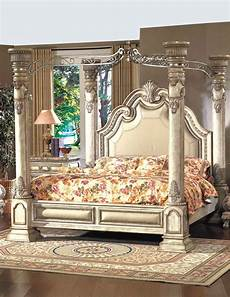 Vintage Canopy Bed Style King Size Canopy Bed Antique White