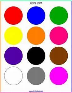 Basic Color Chart For Kids Color Preschool Printables Preschool Colors Preschool