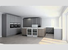 Brand New Beeck Kitchen with Large Island and Bank of Tall Units   The Used Kitchen Company