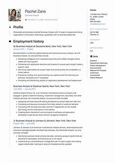 Business Analyst Project Manager Resume Sample Business Analyst Resume Sample Template Example Cv