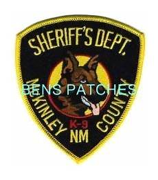Mckinley County Sheriff Ben S Patch Collection