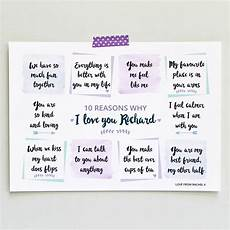 30 Reasons Why I Love You Personalised Reasons I Love You Art Print By Martha Brook